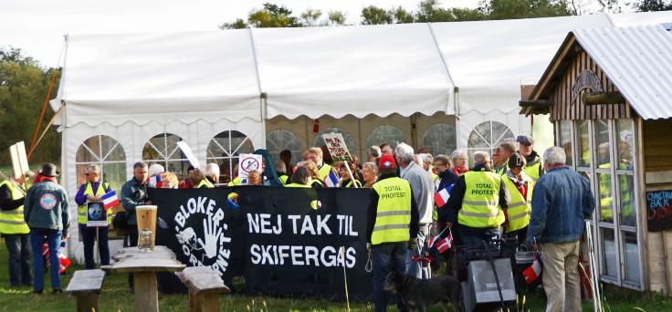 Total Protest Camp lejren mod skifergasboringer lukker den 30. september 2015